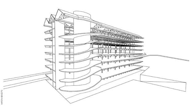 estructura edificio David