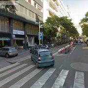 parking en la calle tuset de Barcelona