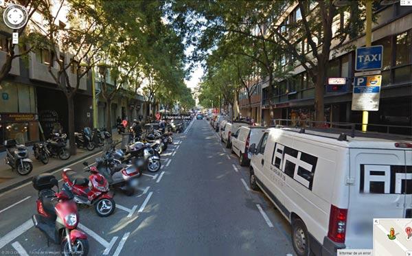 Aparcar calle Tuset