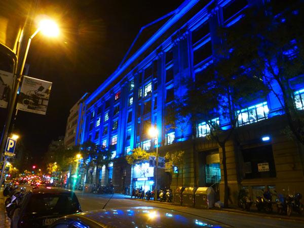 fachada iluminada David