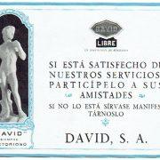 Innovación publicitaria en David años 20