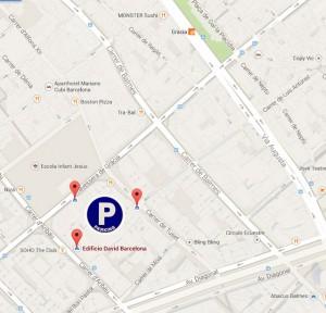 mapa parking en gracia