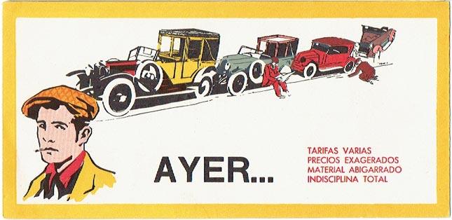 publicidad taxis barcelona años 30