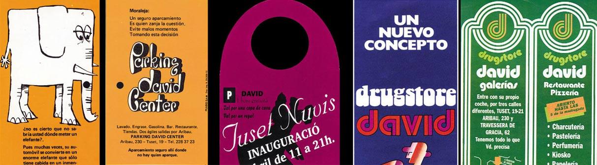 publicidad Drugstore David Barcelona años 60