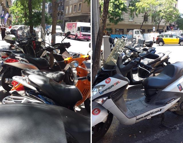 motos aparcadas barcelona