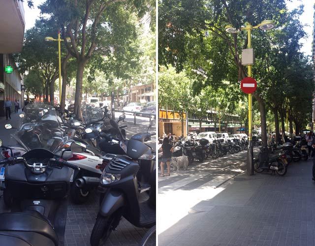 motos aparcadas en Barcelona