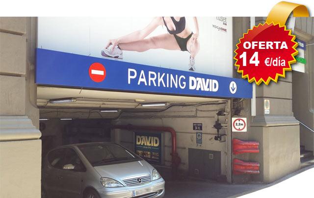 oferta para aparcar en Barcelona