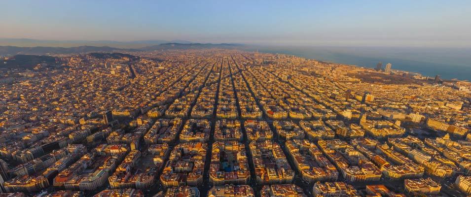 barcelona vista eixample
