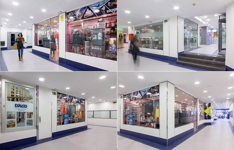 negocios en centro comercial moderno