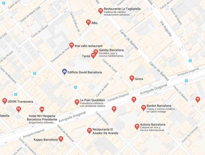 Restaurantes cerca del Edificio David Barcelona