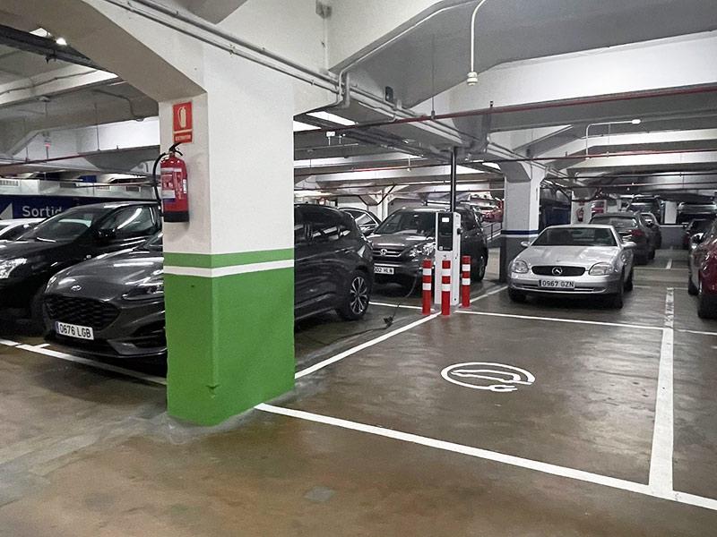 parking coche eléctrico Barcelona